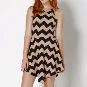 NWOT Chevron Asymmetrical Dress